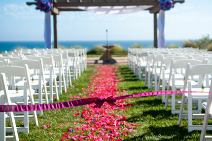 Terranea Resort Palos Verdes Ca wedding Cermony