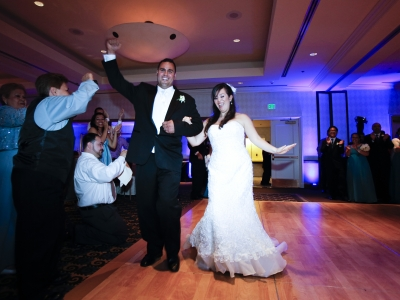 long-beach-hyatt-regency-dj-wedding-plannner-photo-booth grand Entrance